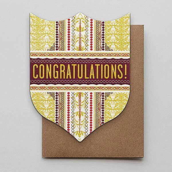 Hammerpress Congratulations Badge Blank Greeting Card