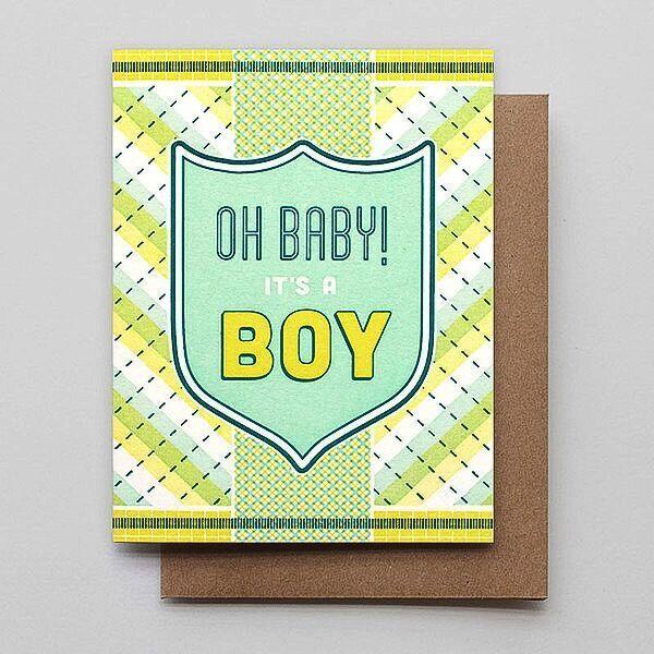 Hammerpress Oh Baby! Boy Blank Greeting Card