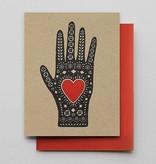 Hammerpress Heart in Hand Blank Greeting Card