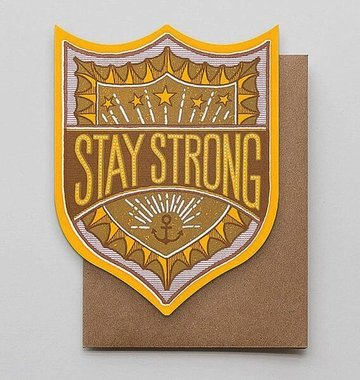 Hammerpress Stay Strong Badge Blank Greeting Card