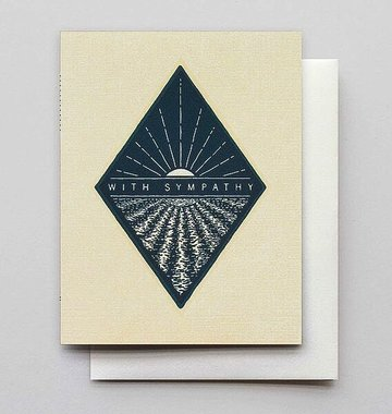 Hammerpress With Sympathy Reflection Blank Greeting Card