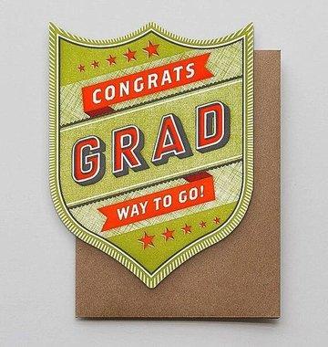 Hammerpress Congrats Grad Blank Greeting Card