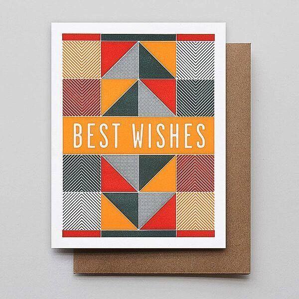 Hammerpress Best Wishes Blank Greeting Card