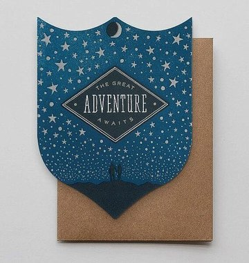 Hammerpress Great Adventure Badge Blank Greeting Card