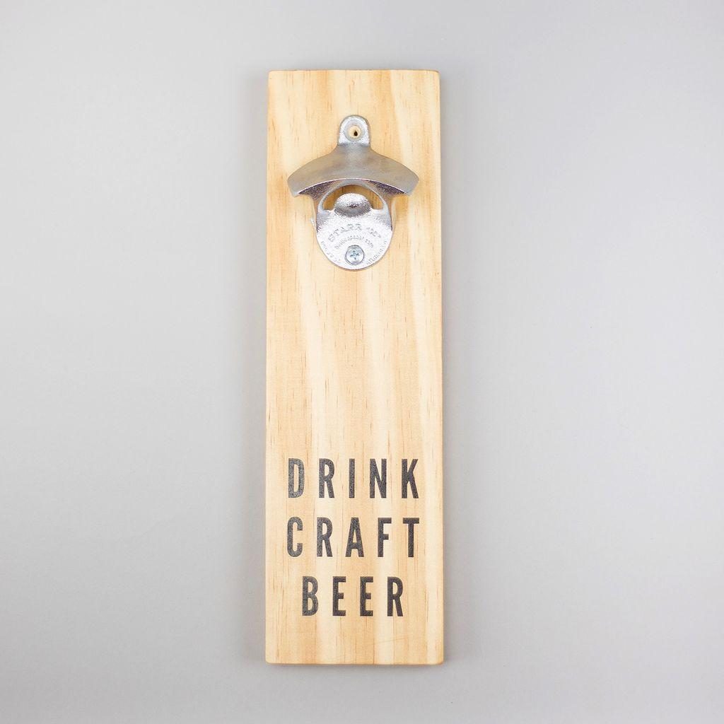 Shop Good: Handmade Craft Beer Bottle Opener - Natural