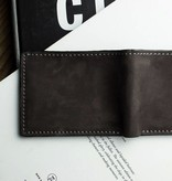 Kiko Leather Handcrafted Leather Bifold Wallet - Dark Brown