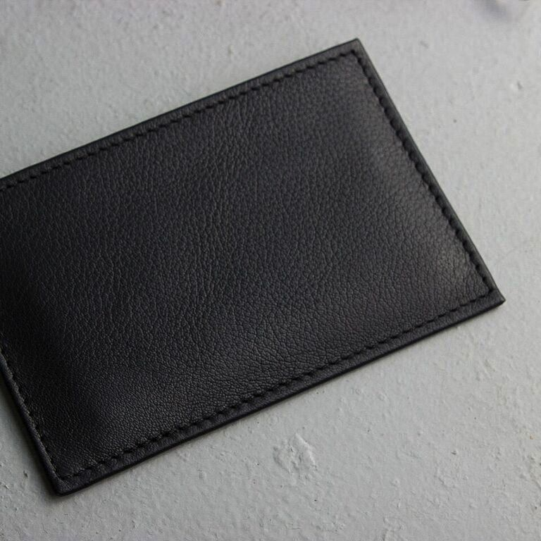 Kiko Leather Handcrafted Leather Card Case - Black