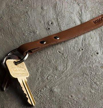 Kiko Leather Handcrafted Leather Keychain - Brown