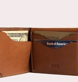 Kiko Leather Handcrafted Leather Simple Wallet - Brown