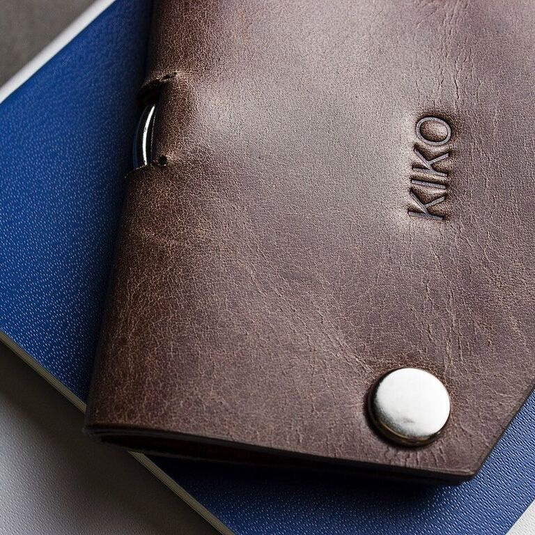 Kiko Leather Handcrafted Leather Key Case - Brown