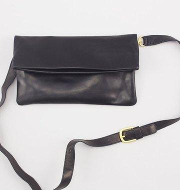 Sseko Designs Convertible Crossbody Bag - Black Leather