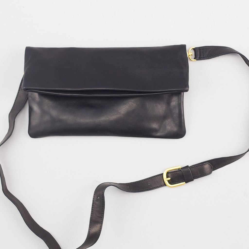 Sseko Designs Convertible Crossbody Bag - Black Leather