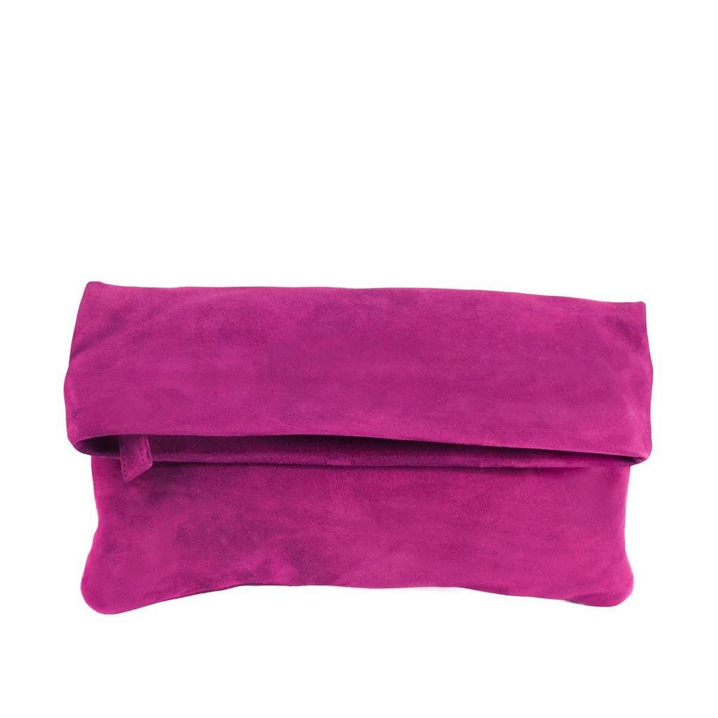 Sseko Designs Convertible Crossbody Bag - Fuchsia Suede