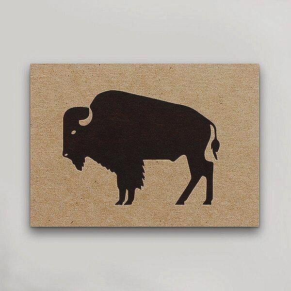 Hammerpress Bison Postcard
