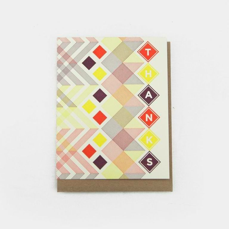 Hammerpress Thanks Diamond Blank Greeting Card