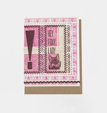 Hammerpress Hey Foxy Lady Blank Greeting Card