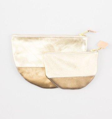 Sseko Designs Gold Moon Clutch