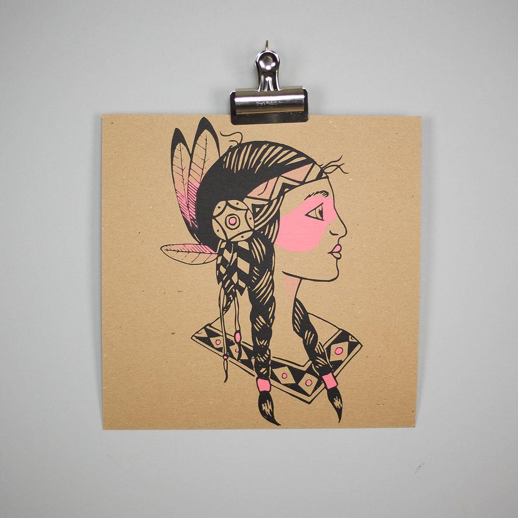 Shop Good: Handmade Brave Art Print, 12x12