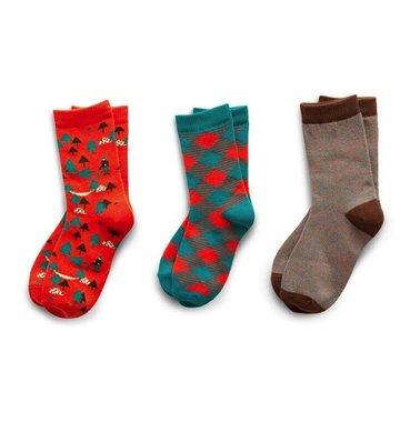Richer Poorer Boys Sock Gift Set - Red & Green Lumberjack