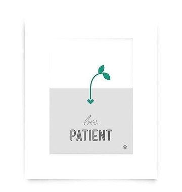Love Well Handmade Be Patient Art Print