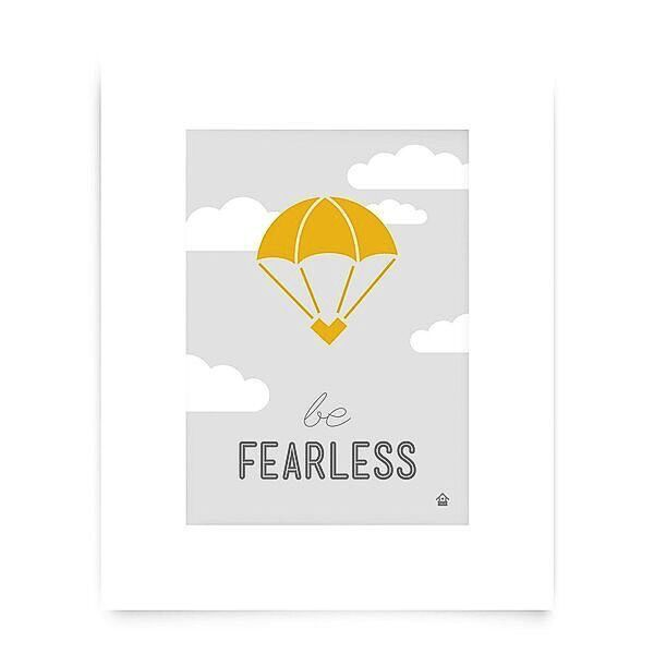 Love Well Handmade Be Fearless Art Print