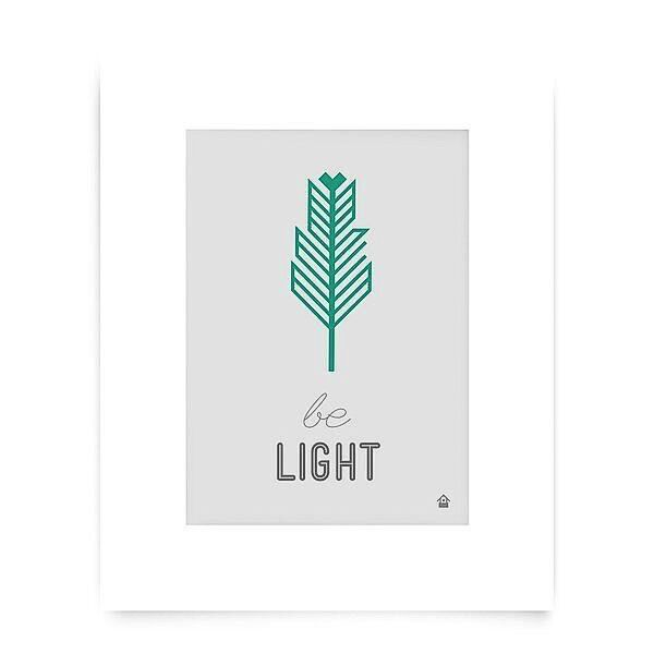 Love Well Handmade Be Light Art Print