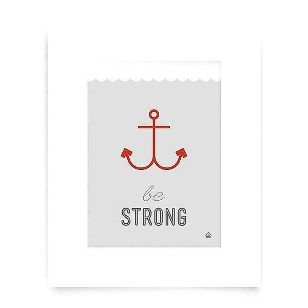 Love Well Handmade Be Strong Art Print