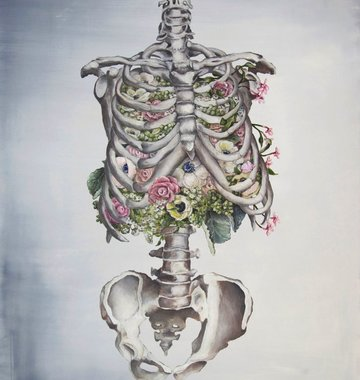 Tiny Art Shop Floral Anatomy - Skeleton Art Print