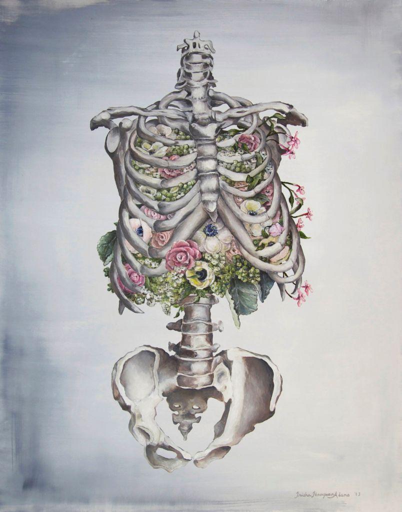 Tiny Art Shop Floral Anatomy - Skeleton Art Print