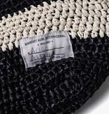 Krochet Kids Shoreline Crocheted Beach Bag - Black Stripe