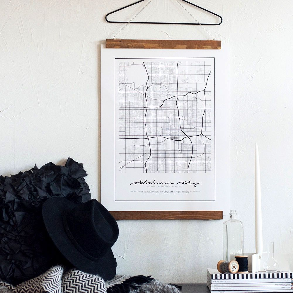 The Map Shoppe Oklahoma City Map Poster
