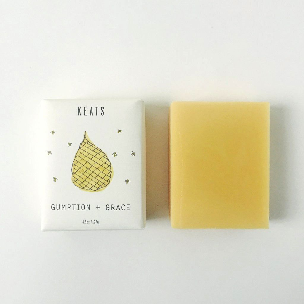 Keats Gumption + Grace Soap Bar - Lemongrass & Ginger