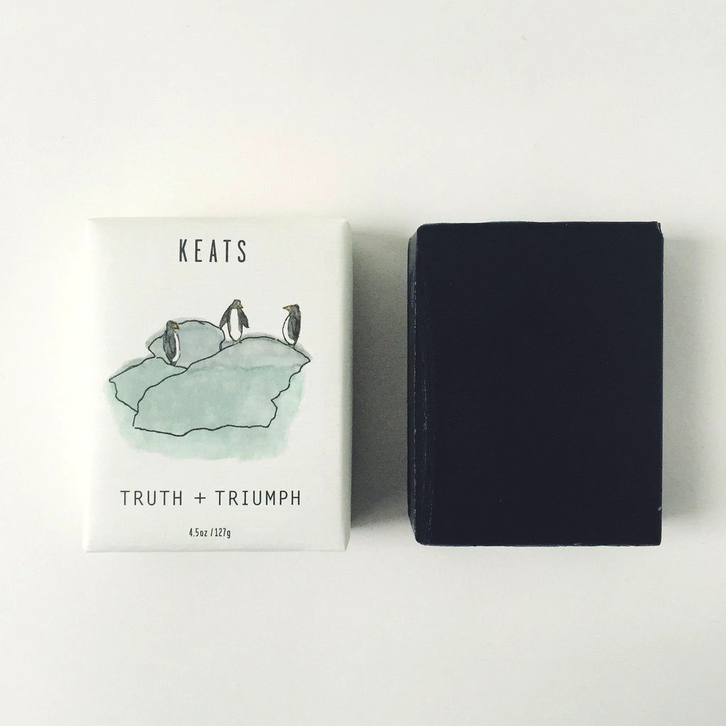 Keats Truth + Triumph Soap Bar - Peppermint & Bamboo Charcoal
