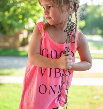 Shop Good: Tees Good Vibes Only Kids Tank