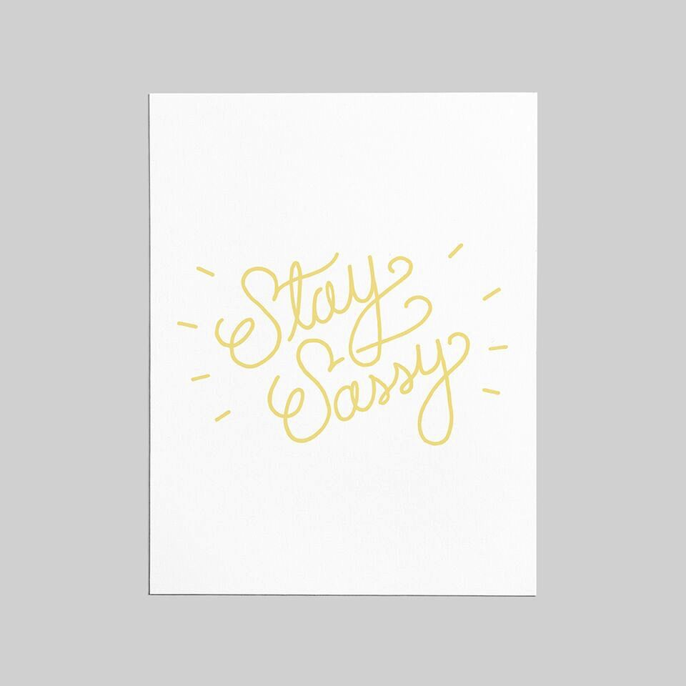 Shop Good: Paper Stay Sassy Greeting Card