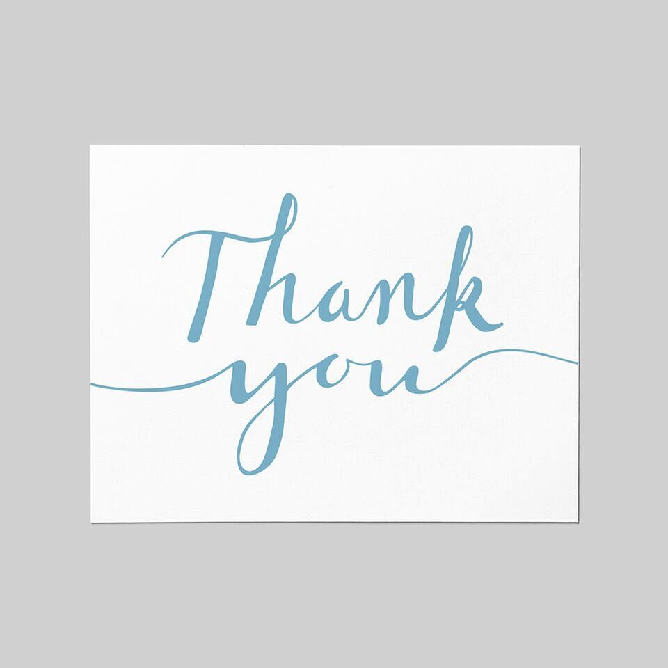 Shop Good: Paper Thank You Script Greeting Card