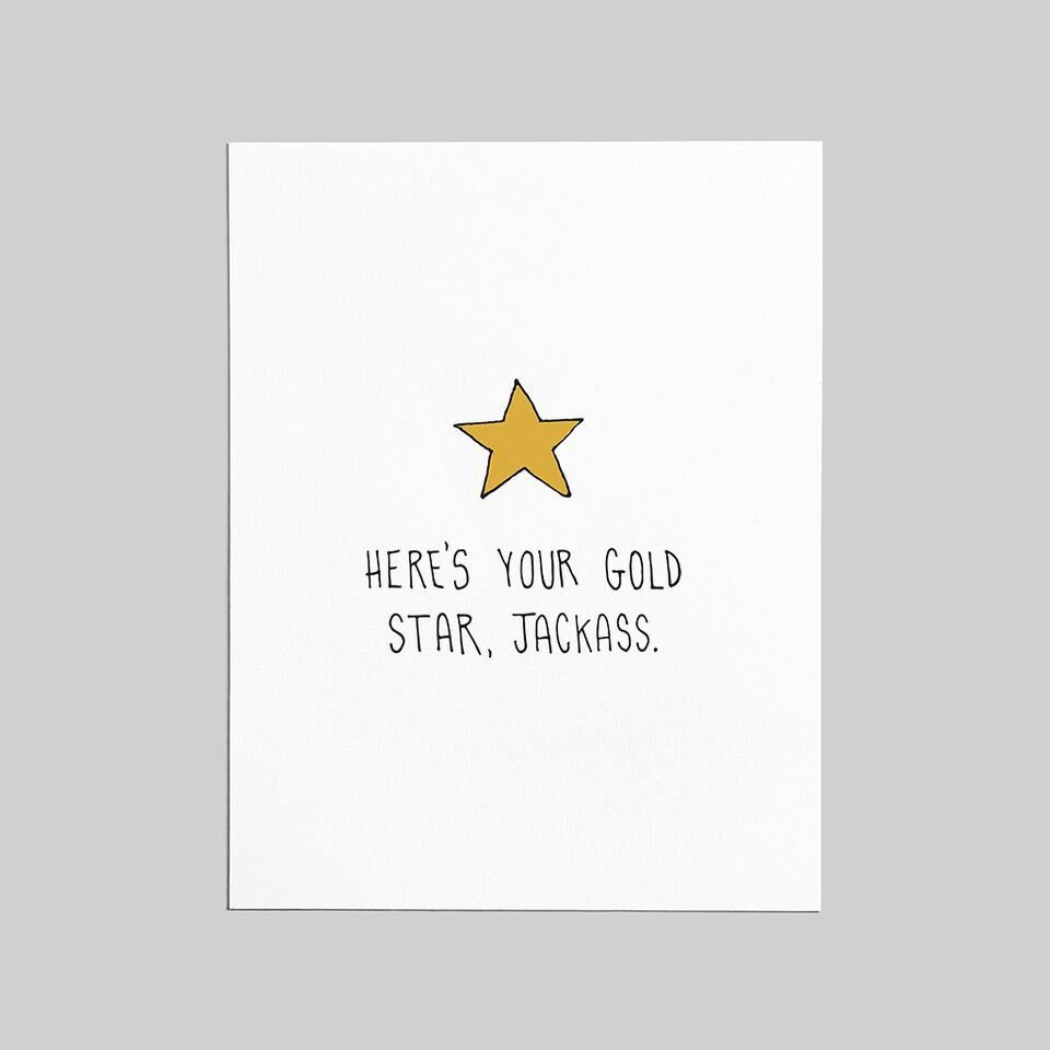 Shop Good: Paper Gold Star Greeting Card