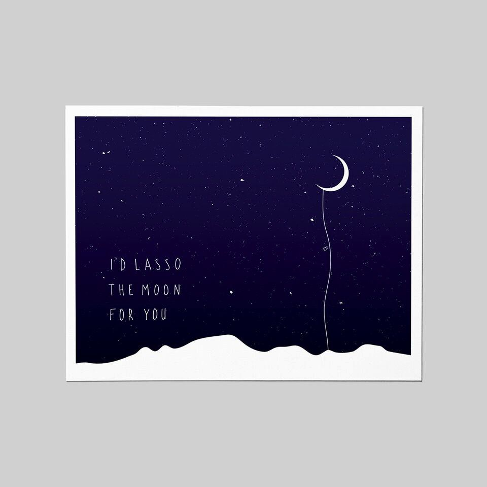 Shop Good: Paper I'd Lasso the Moon for You Greeting Card