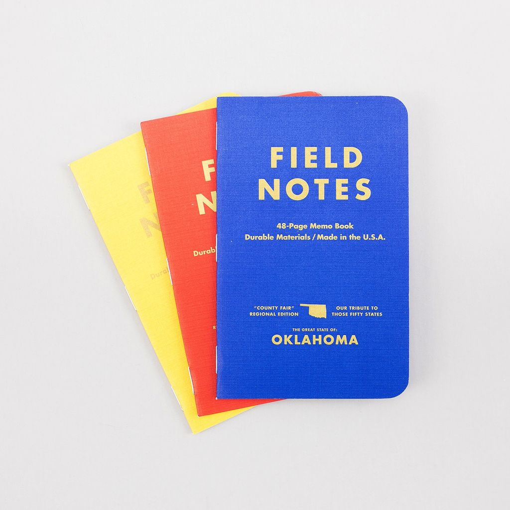Field Notes Oklahoma County Fair Pocket Notebook 3-Pack