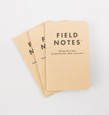 Field Notes Classic Pocket Notebook 3-Pack - Plain Paper