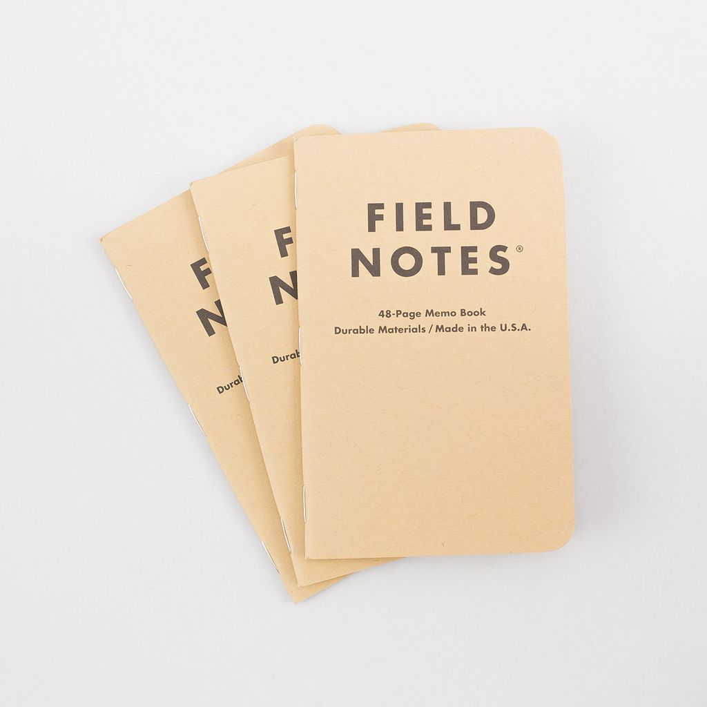 Field Notes Classic Pocket Notebook 3-Pack - Ruled Paper