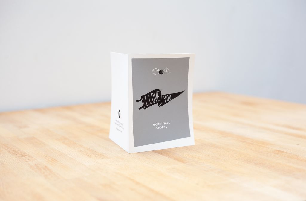 Shop Good: Paper I Love You More Than Sports - Blank Screen Printed Card
