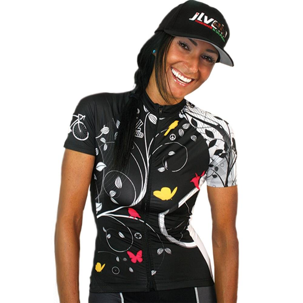 Women's Team Stretch Jersey : Birds Collection : Black