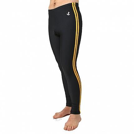 Polypro Double Speed Stripe Tights : Navy / Gold