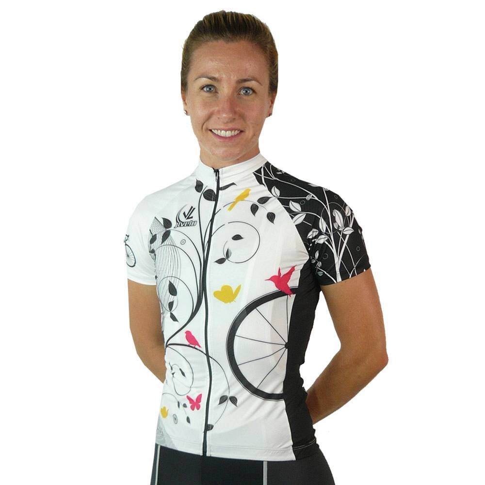 Women's Team Stretch Jersey : Birds Collection : White