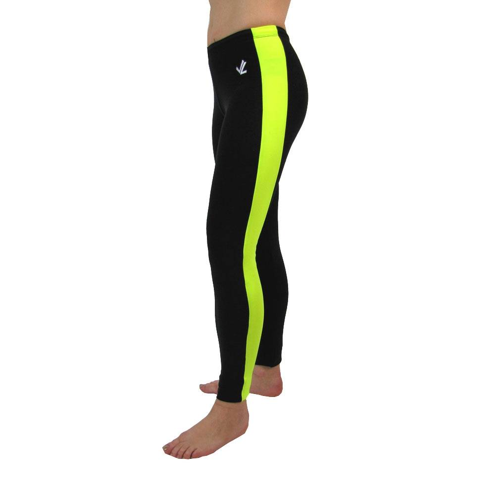 Polypro Vertical Tights : Black / Hi Viz