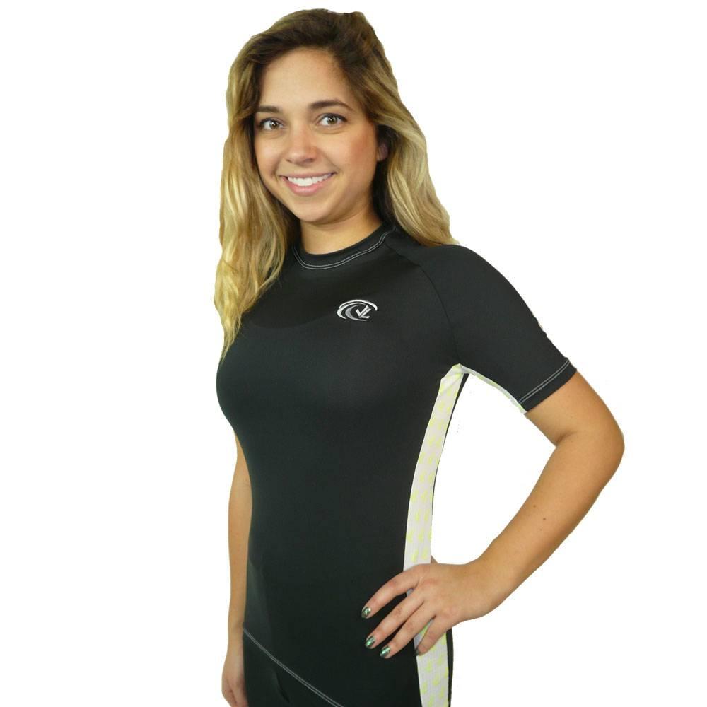 Mesh Panel Tech Shirt : Black