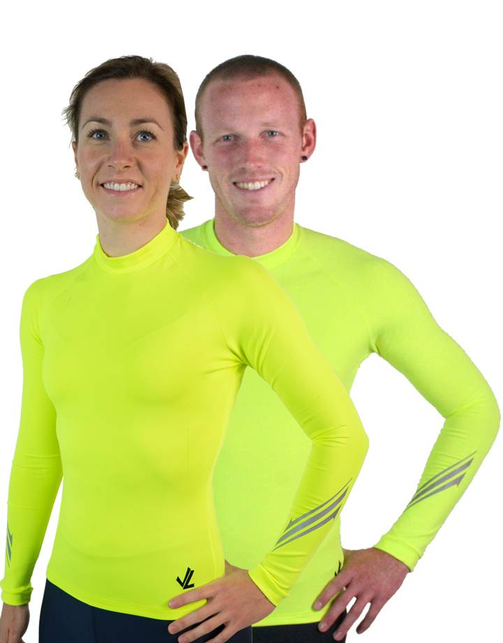 Long Sleeve Drywick Tech shirt :  Hi-Viz