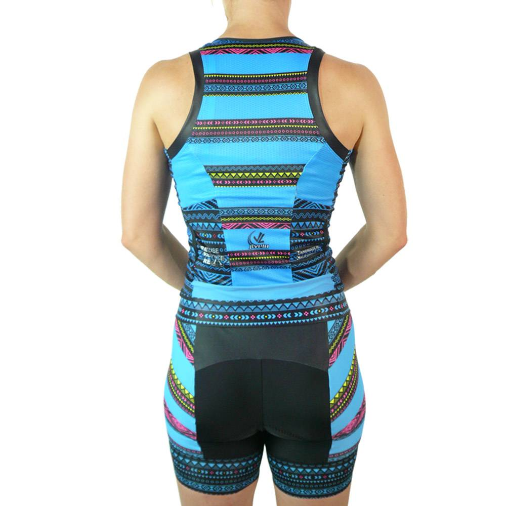 Women's Elite Tri top : Tribal Collection : Blue