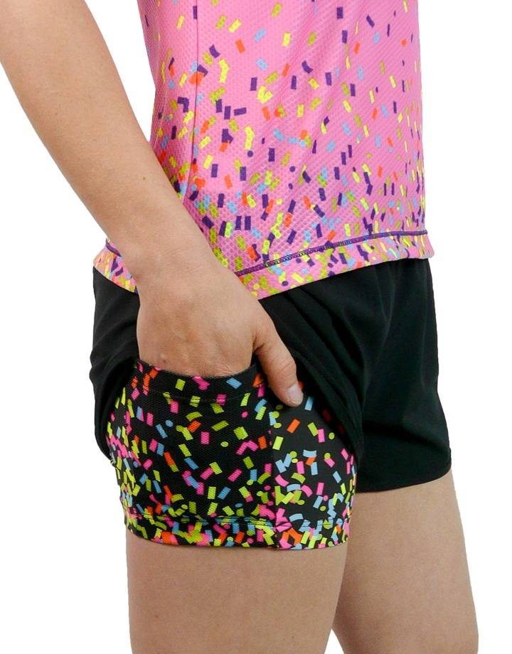 Confetti Cross Shorts